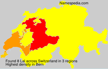 Surname Lal in Switzerland