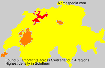Surname Lambrechts in Switzerland