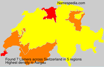 Surname Lamers in Switzerland