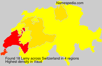 Surname Lamy in Switzerland