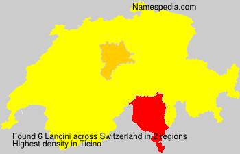 Surname Lancini in Switzerland