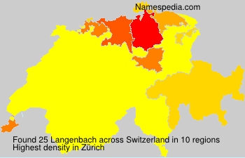 Surname Langenbach in Switzerland
