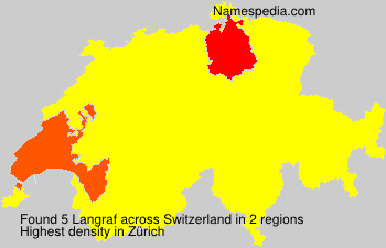 Surname Langraf in Switzerland