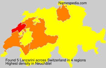 Familiennamen Lanzarini - Switzerland