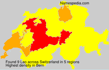 Surname Lao in Switzerland