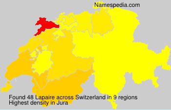 Familiennamen Lapaire - Switzerland
