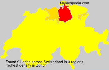 Familiennamen Larice - Switzerland