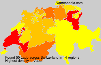 Surname Laub in Switzerland