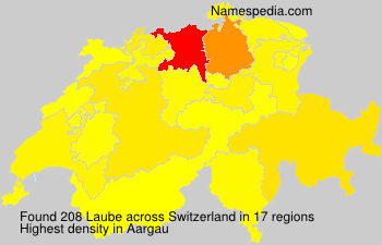 Surname Laube in Switzerland