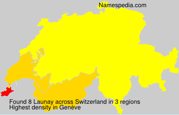 Surname Launay in Switzerland