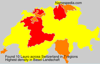 Surname Lauro in Switzerland