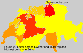 Surname Lazar in Switzerland