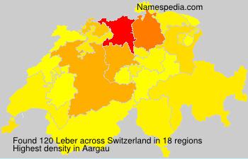 Surname Leber in Switzerland