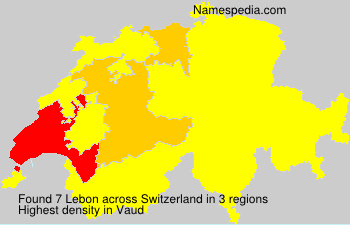 Surname Lebon in Switzerland