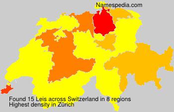 Surname Leis in Switzerland