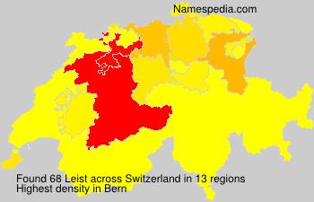 Surname Leist in Switzerland