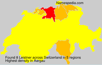 Surname Leistner in Switzerland