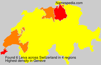 Surname Leiva in Switzerland