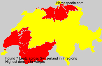 Surname Lentz in Switzerland