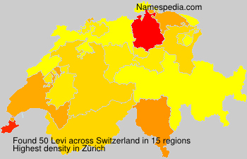 Surname Levi in Switzerland