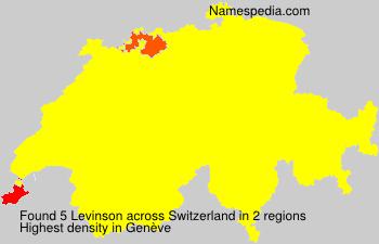 Familiennamen Levinson - Switzerland