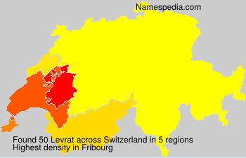Surname Levrat in Switzerland