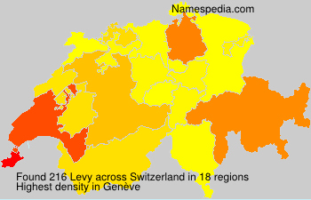 Surname Levy in Switzerland