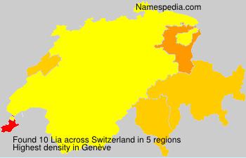 Surname Lia in Switzerland