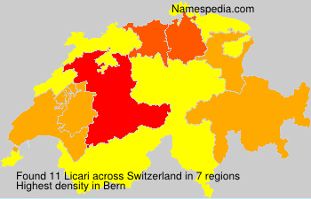 Surname Licari in Switzerland