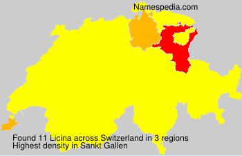 Familiennamen Licina - Switzerland