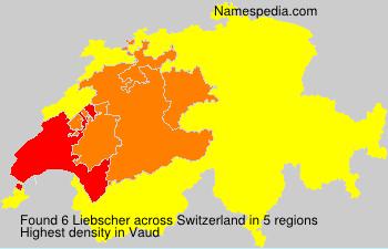 Familiennamen Liebscher - Switzerland