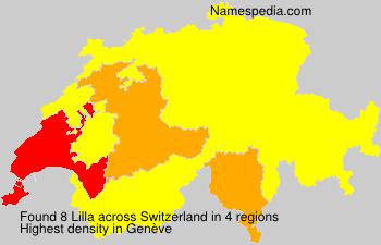 Familiennamen Lilla - Switzerland