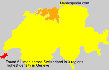 Surname Limon in Switzerland