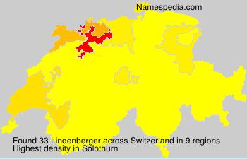 Surname Lindenberger in Switzerland