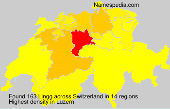 Surname Lingg in Switzerland