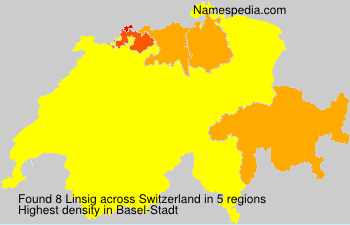 Surname Linsig in Switzerland