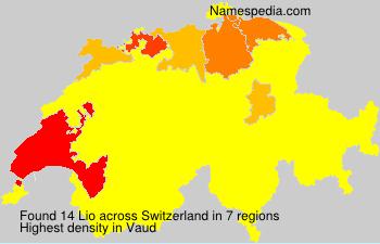 Surname Lio in Switzerland