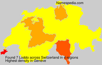 Surname Loddo in Switzerland