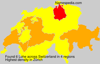 Surname Lohe in Switzerland
