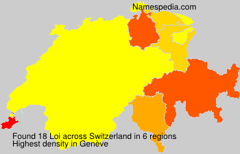 Surname Loi in Switzerland
