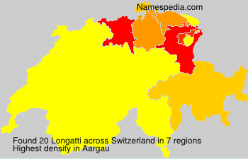 Surname Longatti in Switzerland