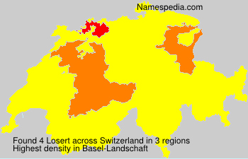 Surname Losert in Switzerland
