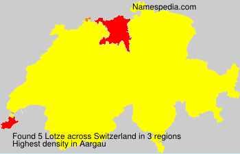 Surname Lotze in Switzerland