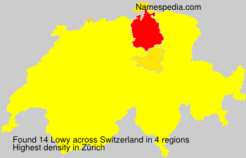 Surname Lowy in Switzerland