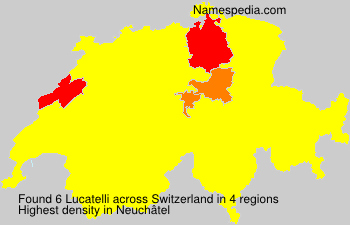 Surname Lucatelli in Switzerland