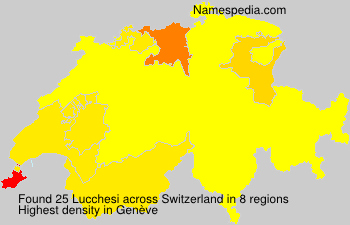 Surname Lucchesi in Switzerland