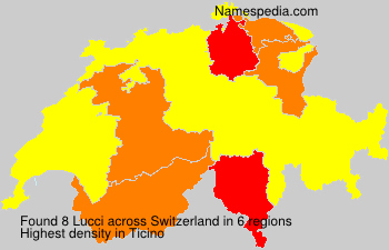 Surname Lucci in Switzerland