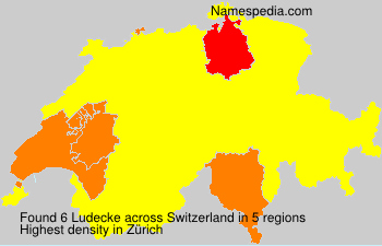 Surname Ludecke in Switzerland