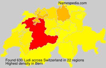 Surname Ludi in Switzerland