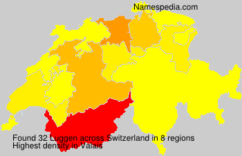 Surname Luggen in Switzerland